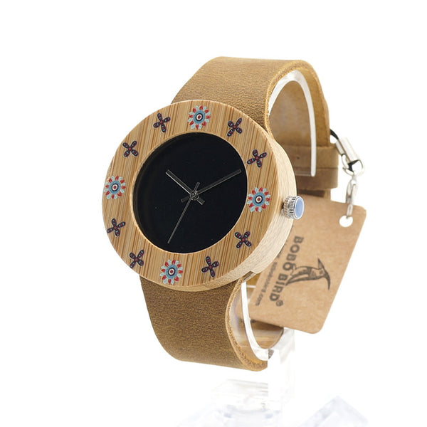 BOBO BIRD Luxury Bamboo Watch for Women - CrumelsWorld