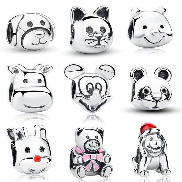 Sterling Silver Cute Animal Charms - CrumelsWorld