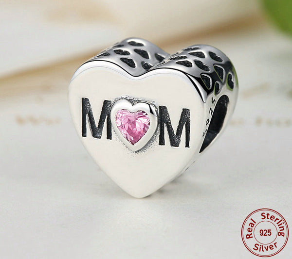 Sterling Silver I Love Mom Charm - CrumelsWorld