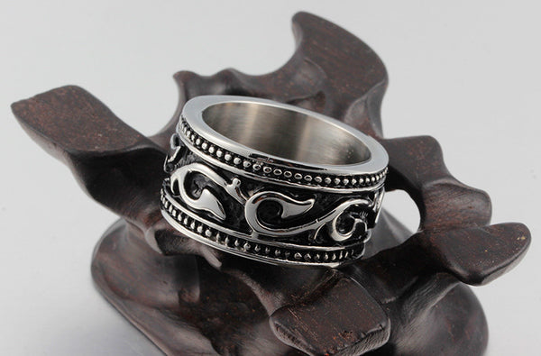 Stainless Steel Retro Ring - CrumelsWorld