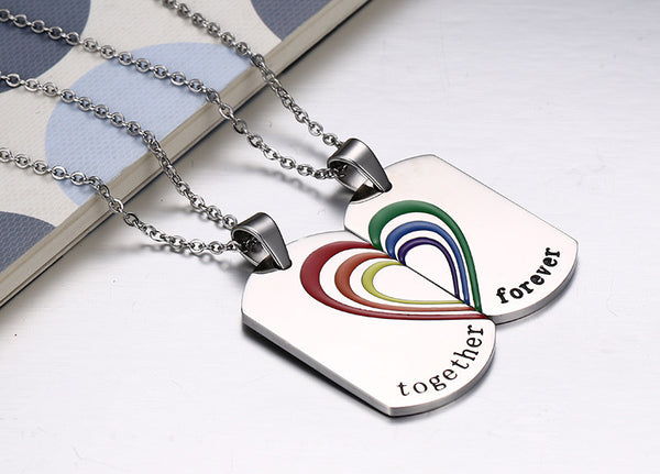 Stainless Steel Rainbow Dog Tag - CrumelsWorld