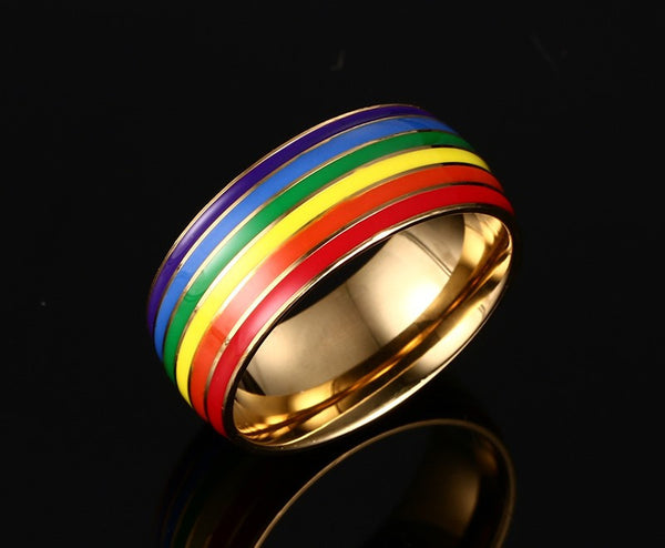 Stainless Steel Rainbow Ring - CrumelsWorld