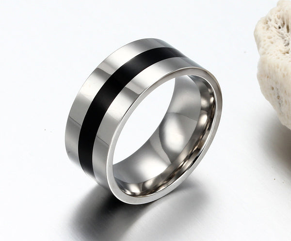 Stainless Steel 9mm Wedding Bands - CrumelsWorld
