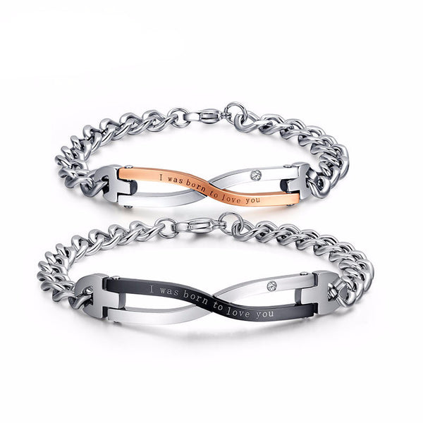 Stainless Steel Lovers Bracelet - CrumelsWorld