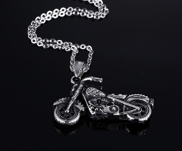 Stainless Steel Chopper Pendant & Necklace - CrumelsWorld