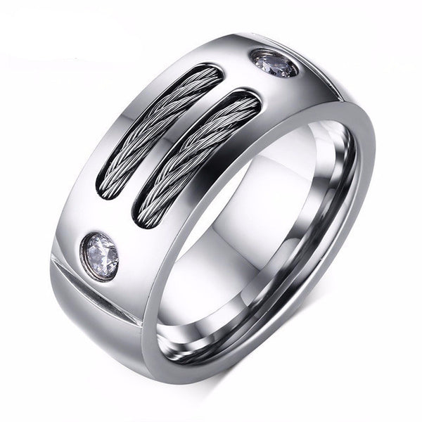 Stainless Steel Wire Spike Ring - CrumelsWorld