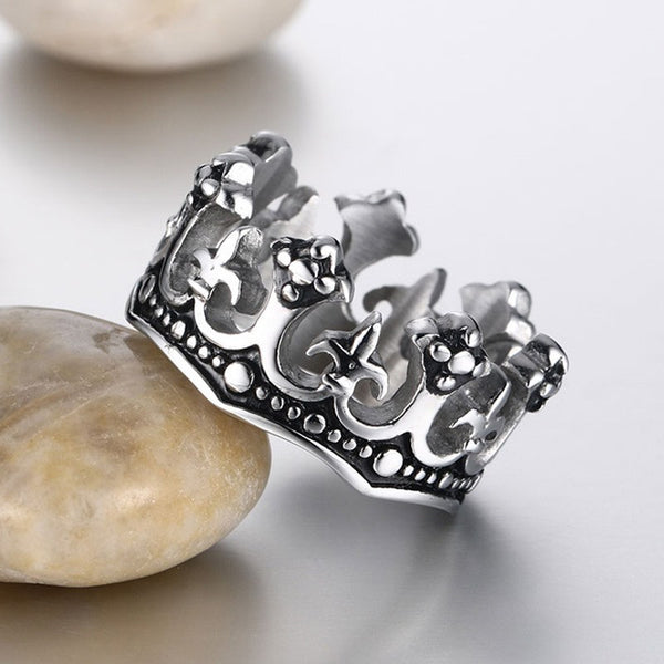 Stainless Steel Kings Crown Ring - CrumelsWorld