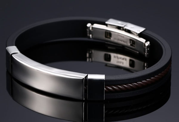 Stainless Steel Silicone Bracelet - CrumelsWorld