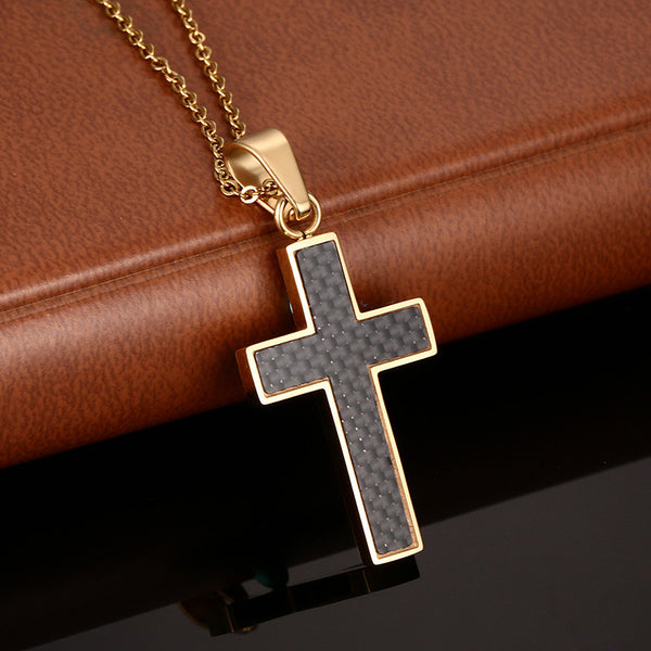 Stainless Steel Vintage Cross Pendant & Necklace - CrumelsWorld