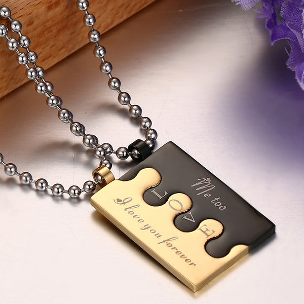 Stainless Steel Puzzle Pendant & Necklace - CrumelsWorld