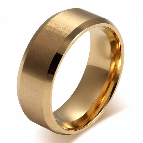 Stainless Steel Matte Wedding Bands - CrumelsWorld