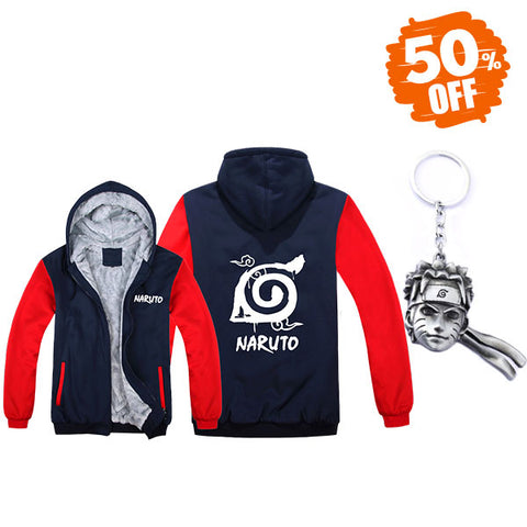 Naruto Hoodie and Keychain Bundle