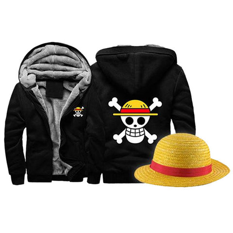 One Piece Hoodie & Luffy's Hat Bundle