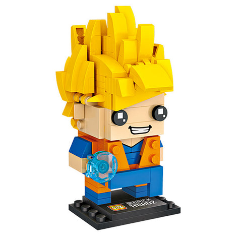 Dragon Ball Z Super Saiyan Son Goku LOZ Brick Head