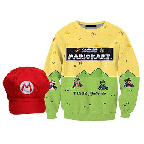 Mario Sweatshirt & Cap Bundle