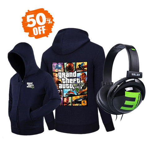 GTA V Hoodie and Headphones Bundle