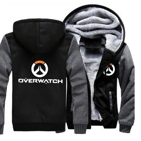 Overwatch Logo Hoodie with Zipper