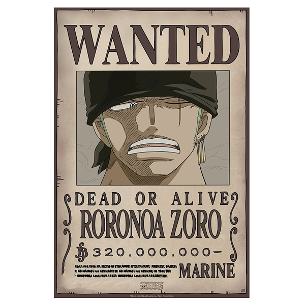 Set of One Piece Wanted Posters – Kill Ping Online Store