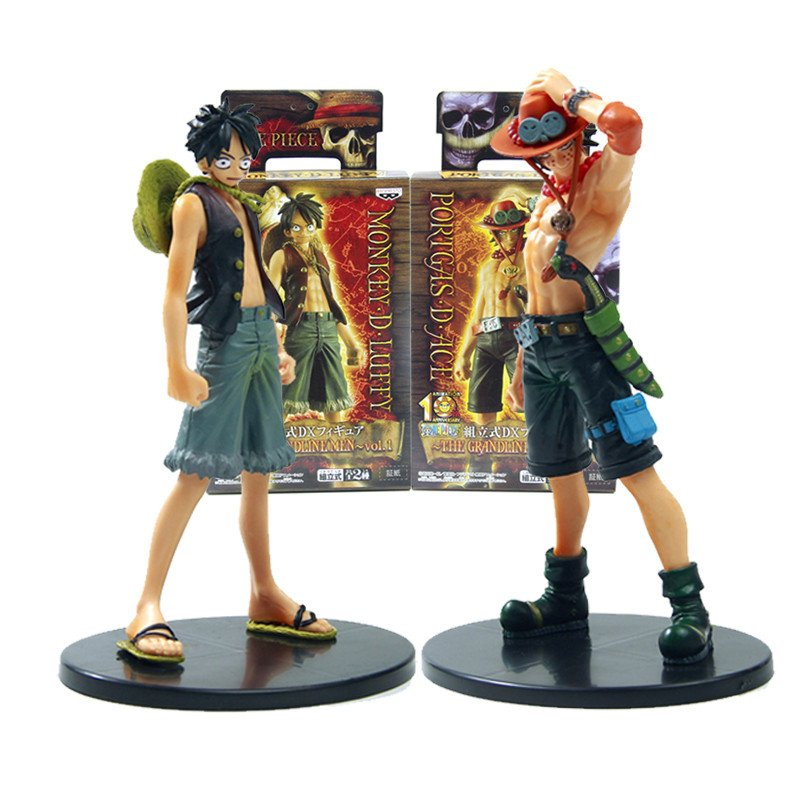 One Piece Monkey D. Luffy And Portagas D. Ace Action Figure Set with Packaging