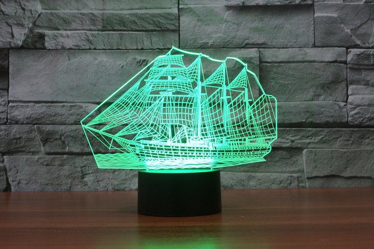 Ship 3D Table Lamp