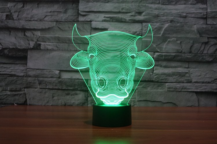 Bull Head 3D Table Lamp