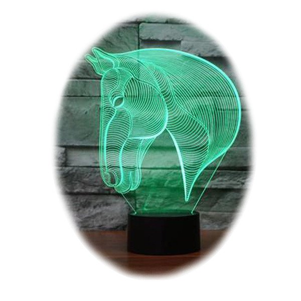 Horse Head 3D Table Lamp