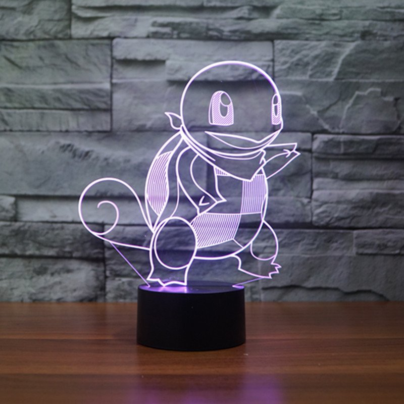 Pokemon Squirtle 3D Table Lamp