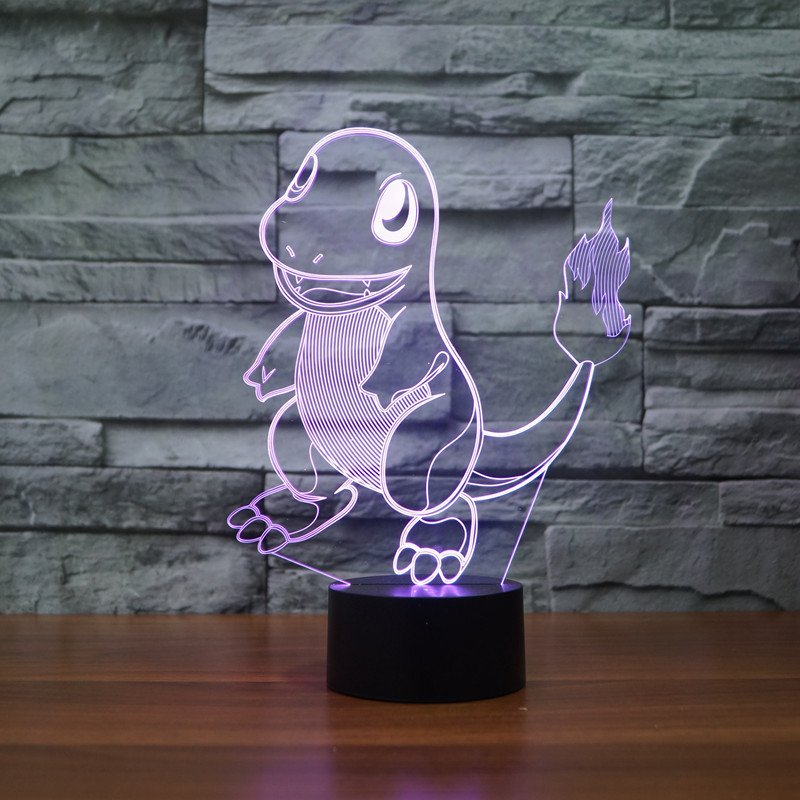 Pokemon Charmander 3D Table Lamp