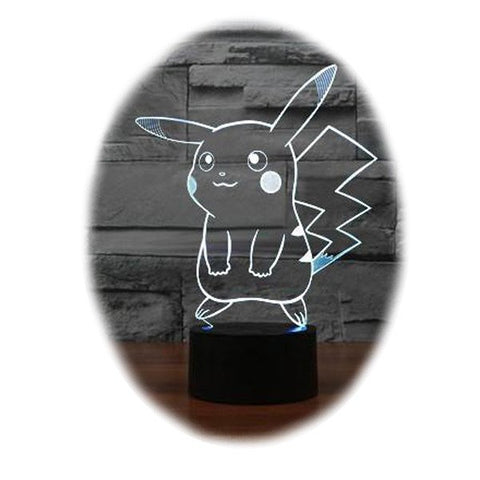Pokemon Pikachu 3D Table Lamp