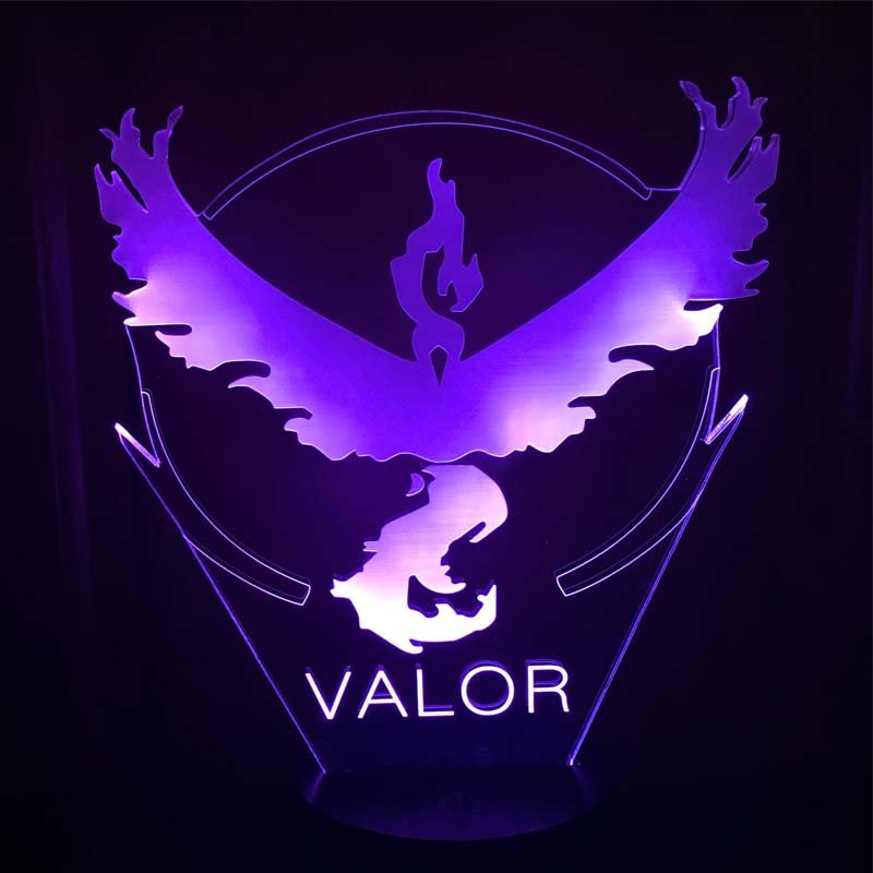Pokemon Team Valor 3D Table Lamp