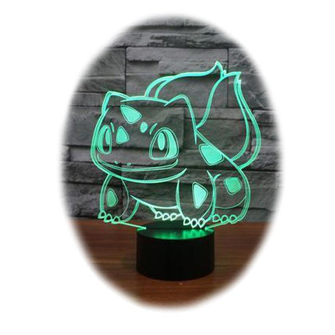 Pokemon Balbasaur 3D Table Lamp