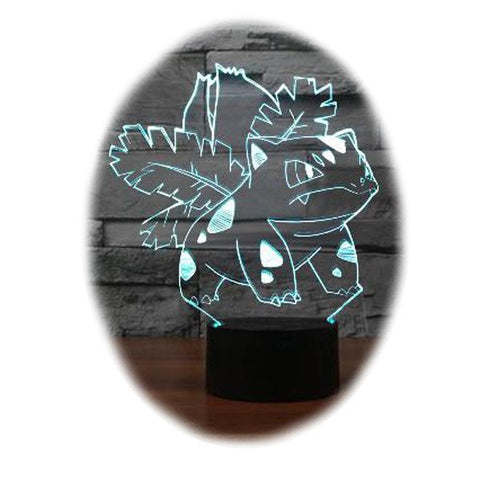 Pokemon Ivysaur 3D Table Lamp