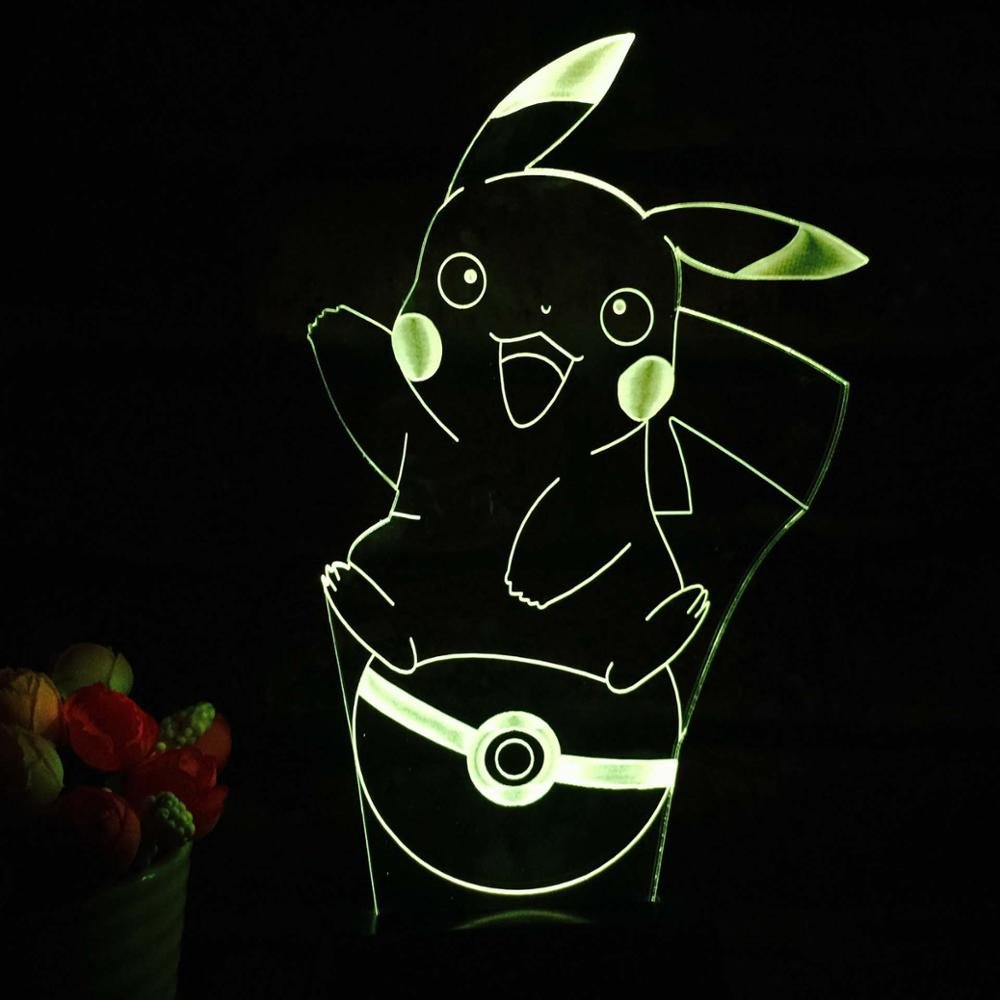 Pokemon Pikachu Pokeball 3D Table Lamp