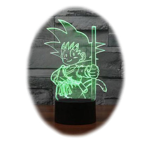 Dragon Ball Kid Goku 3D Table Lamp
