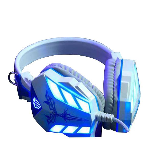 Cosonic White Noise-Cancelling Gaming Headphones with LEDs