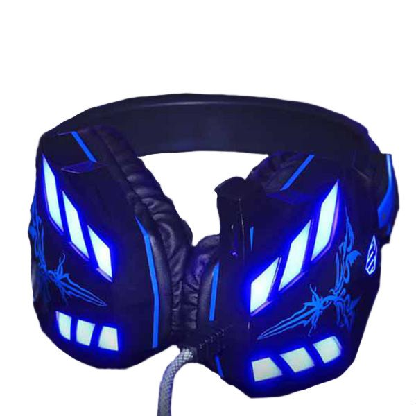 Cosonic Black Noise-Cancelling Gaming Headphones with LEDs
