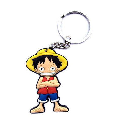 One Piece Rubber Keychain - Luffy
