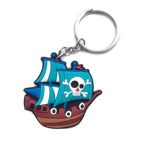 One Piece Rubber Keychain - Going Merry Ship