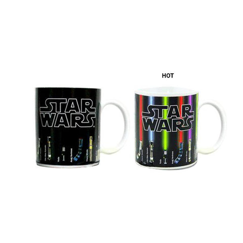 Star Wars Lightsabers Heat Sensitive Mug