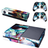 Microsoft Xbox One and Kinect Skin - Neon Skulls