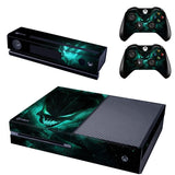 Microsoft Xbox One and Kinect Skin - Green Alien Skull