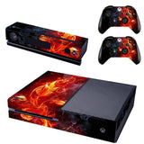Microsoft Xbox One and Kinect Skin - Red Flames