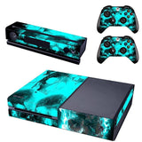 Microsoft Xbox One Skins - Skulls in Green Smoke