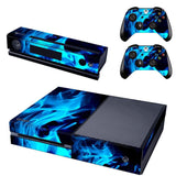 Microsoft Xbox One and Kinect Skin - Blue Flames