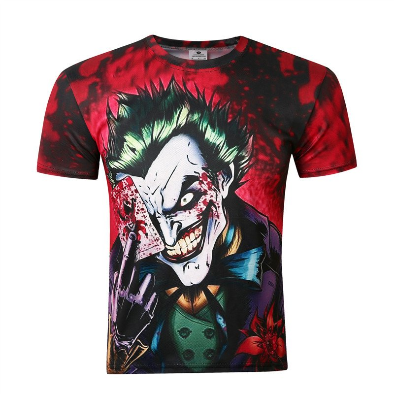 joker design 3d printed t shirt kill ping online store