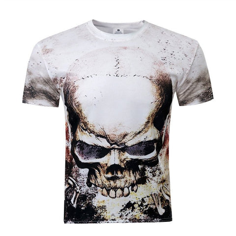 Skull Design 3D Printed T-Shirt