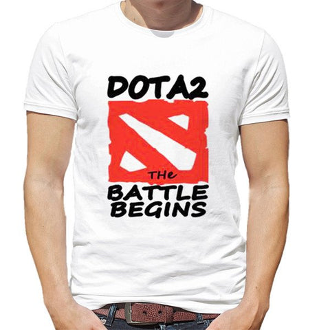 Dota 2 The Battle Begins T-Shirt - White