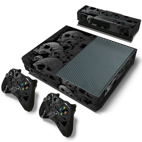 Microsoft Xbox One and Kinect Skin - Grey Skulls