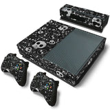 Microsoft Xbox One and Kinect Skin - Black and Grey Skulls