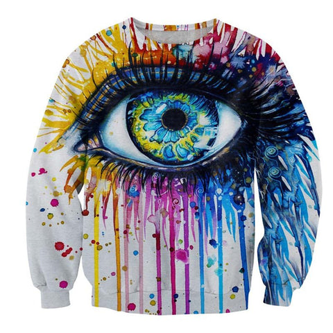 Colorful Eye 3D Printed Sweatshirt